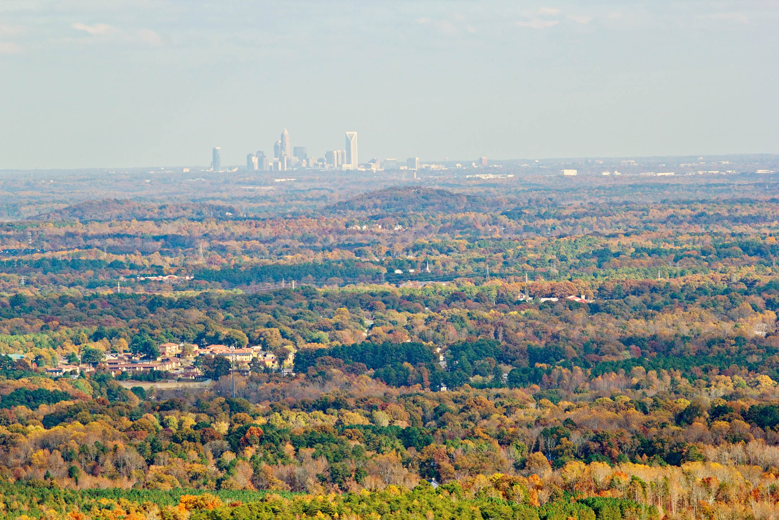 Charlotte North Carolina Skyline from Crowders Mountain ...